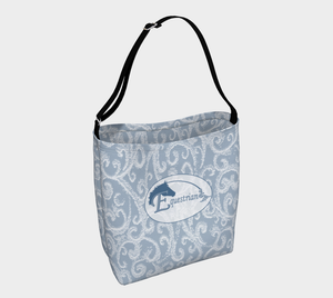 Equestrian Classic Oval Design Day Tote Bag