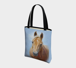 Palomino Horse Art Tote Bag, Lined, Equestrian Tote Bag