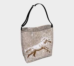 Leopard Appaloosa Horse Neutral Beige Day Tote Bag