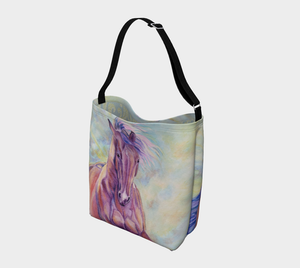 A Little Wild Equine Art Day Tote Bag