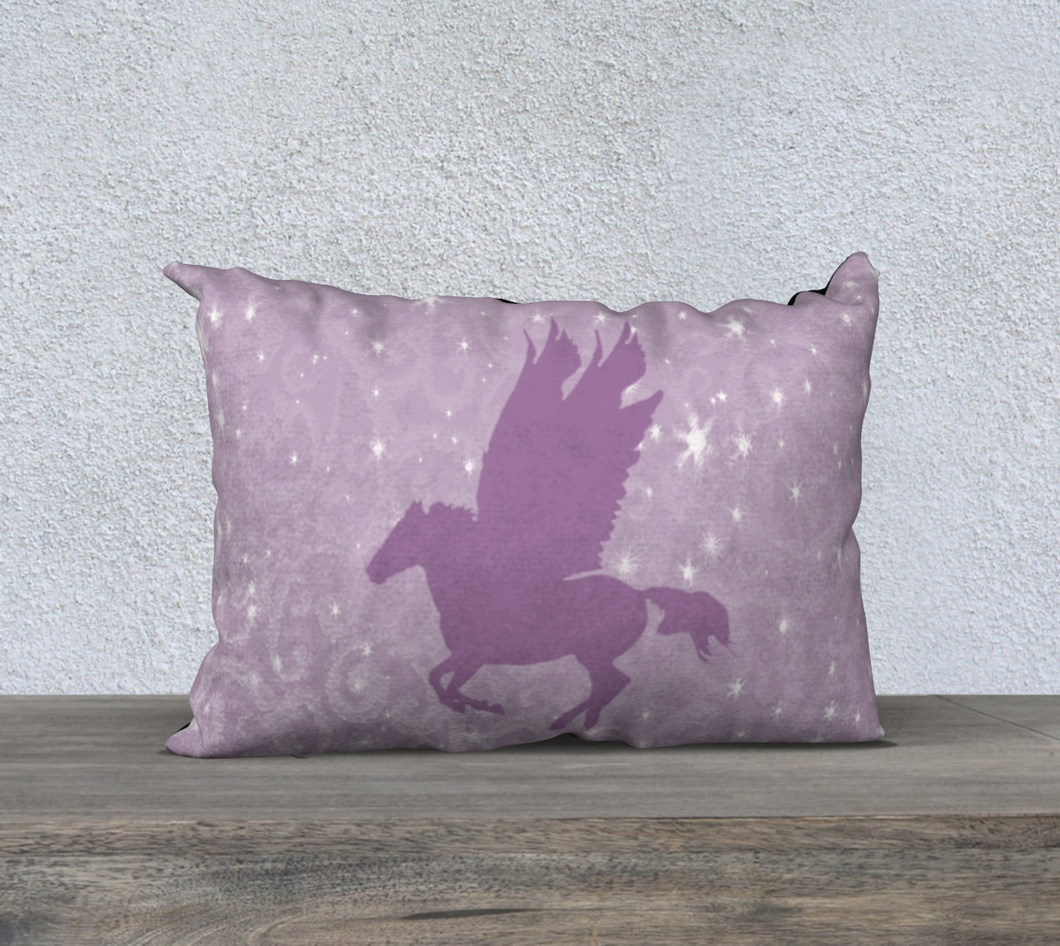 Pegasus in Pink Decor Pillow Cover 20x14
