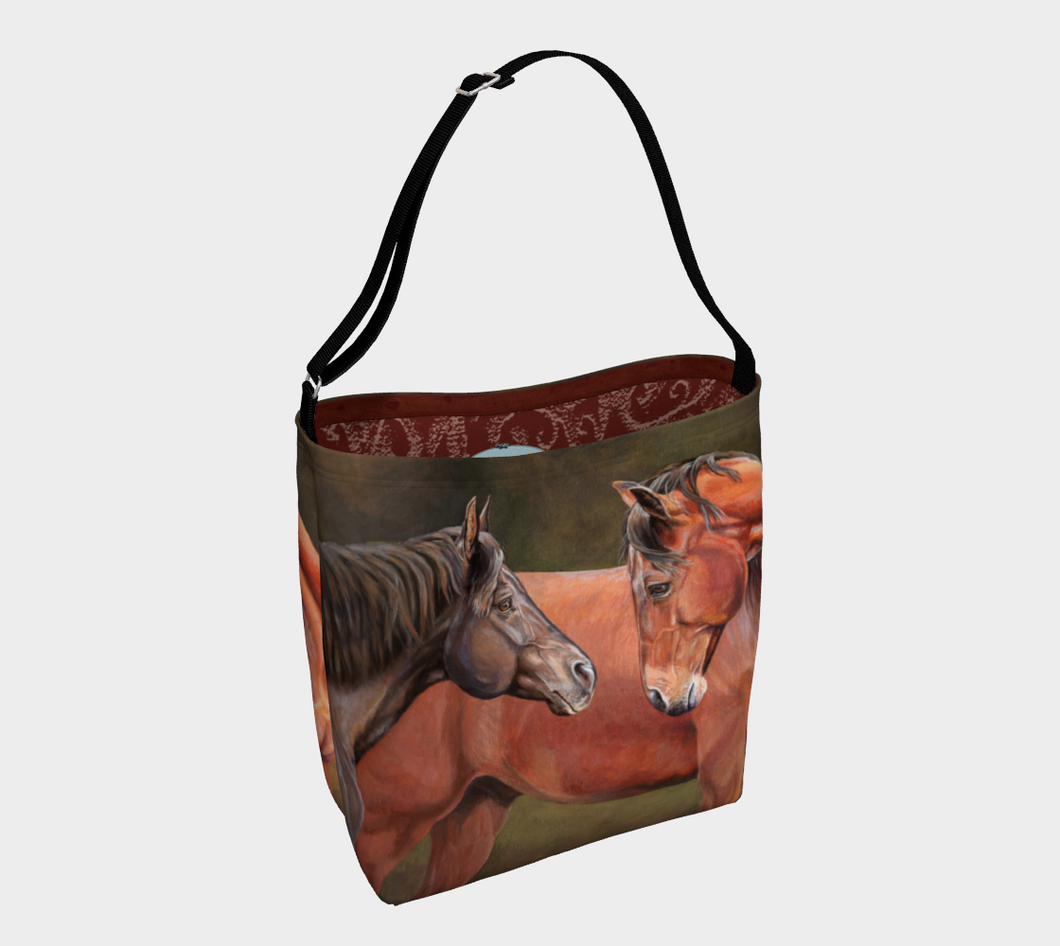 Forever Friends Horse Art Tote Bag