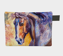 Load image into Gallery viewer, Colourful Horse Head Zipper Carry All, Zipper Case