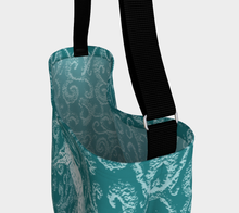 Load image into Gallery viewer, Leopard Appaloosa Turquoise Flyer Day Tote Bag