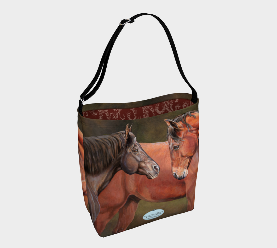 Forever Friends Horse Art Day Tote Bag with Logo