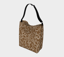 Load image into Gallery viewer, Swirl Pattern Warm Neutral Tones Day Tote Bag