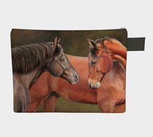 Load image into Gallery viewer, Getting Reacquainted Horse Art Zipper Carry All, Zipper Case