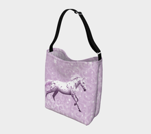 Load image into Gallery viewer, Leopard Appaloosa Horse Pink Fantasy Day Tote Bag