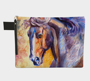 Colourful Horse Head Zipper Carry All, Zipper Case