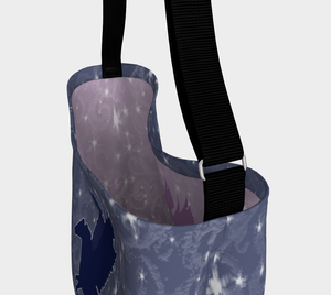 Pegasus Magical Horse Blue and Mauve Day Tote Bag