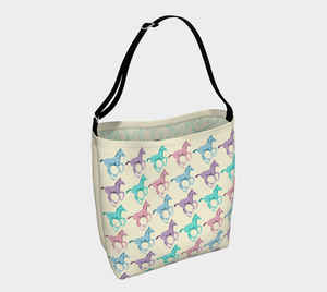Galloping Pastel Foals Day Tote Bag