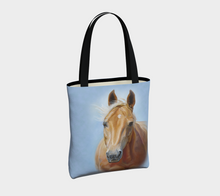 Load image into Gallery viewer, Palomino Horse Art Tote Bag, Lined, Equestrian Tote Bag