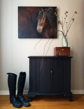 "Load image into Gallery viewer, ""Calm"" Friesian Horse Original Oil Painting"