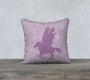 Pegasus in Pink Decor Pillow Cover