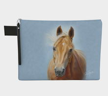 Load image into Gallery viewer, Golden Palomino Horse Art Zipper Carry All, Zipper Case