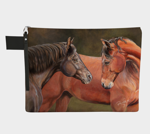 Getting Reacquainted Horse Art Zipper Carry All, Zipper Case