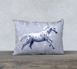 Leopard Appaloosa Horse Blue Fantasy 20x14 Decor Pillow Cover