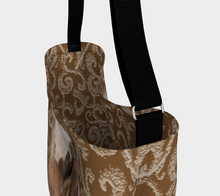 Load image into Gallery viewer, Paint Horse on Neutral Swirls Day Tote Bag