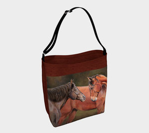 Forever Friends Equine Fine Art Day Tote Bag