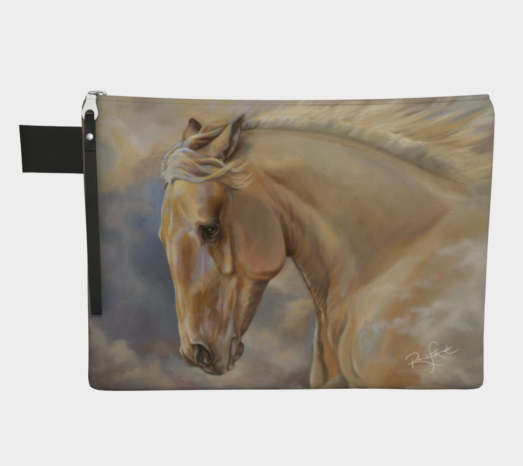 Palomino Horse Art Zipper Carry All, Zipper Case