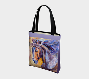 "Modern Horse Art Tote Bag, ""Epiphany""  Equestrian Tote Bag, Cowgirl, Accessories, Horse Lovers, Designer Tote"