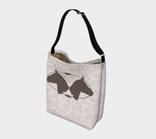Load image into Gallery viewer, Two Horse Heads Design Neutral Beige Day Tote Bag