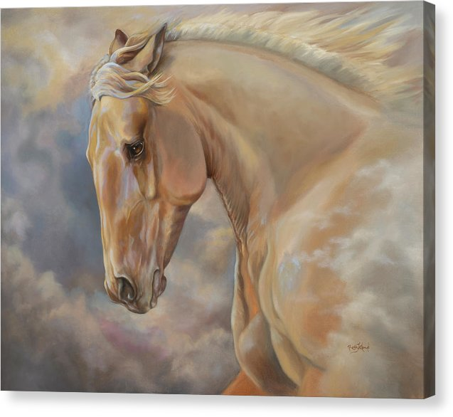 Galloping Palomino Horse Art Canvas Print -