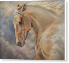 "Load image into Gallery viewer, Galloping Palomino Horse Art Canvas Print - ""Hope Rising"""