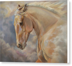 "Galloping Palomino Horse Art Canvas Print - ""Hope Rising"""