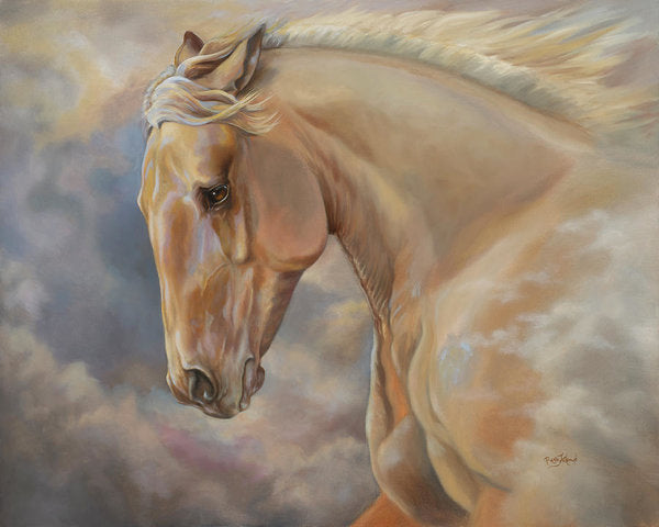 Galloping Palomino Horse Art Print - Hope Rising
