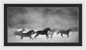 Spirited Horse Herd - Framed Print