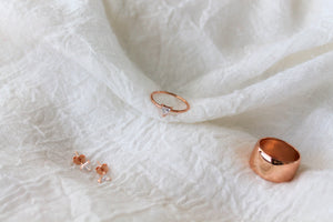 Trillion Rose Gold Ring