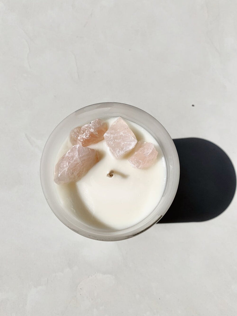 Candle Rose Quartz - Loved & Worthy