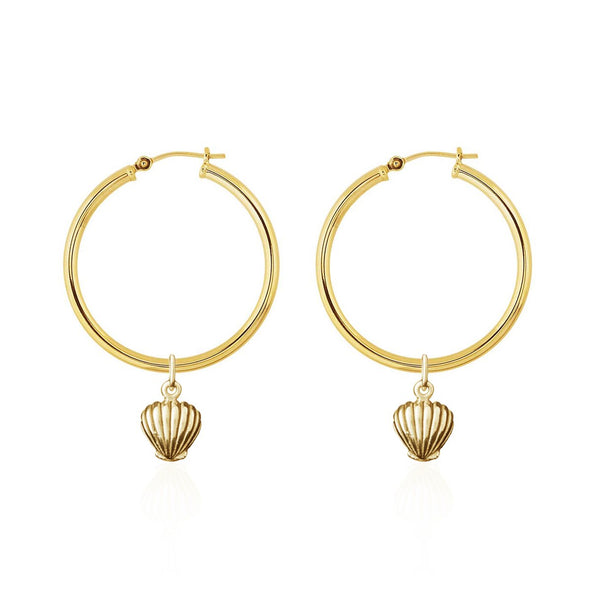 Shell We Dance Earrings - Gold