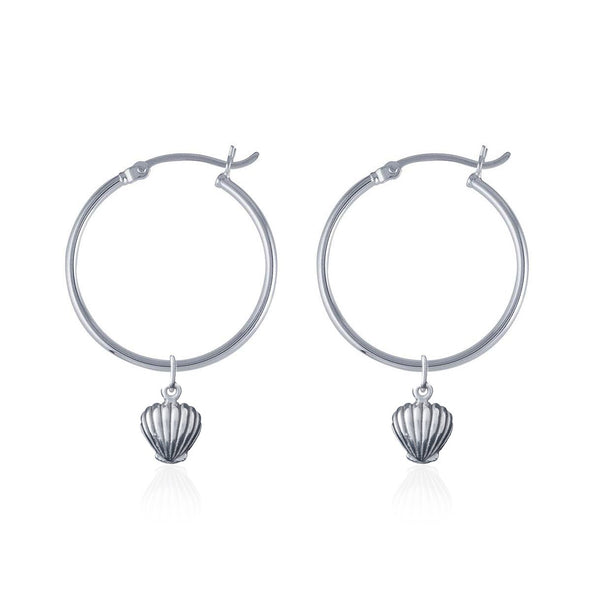 Shell We Dance Earrings - Silver