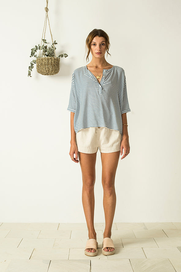 Ella Top - Blue Stripe
