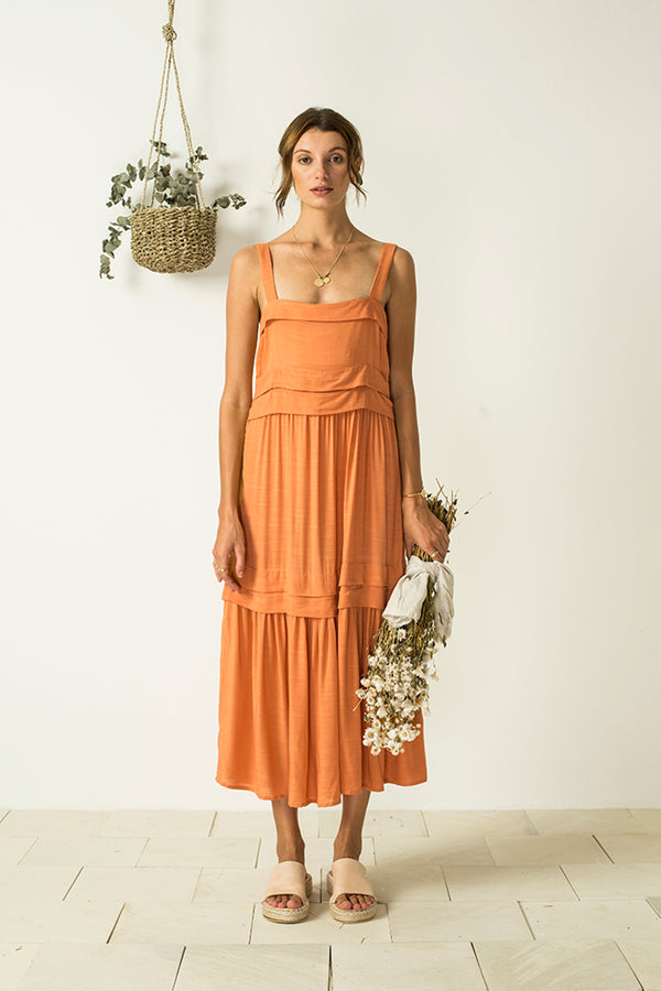 Renata Dress - Tangerine