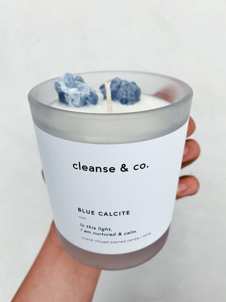 Candle - Blue Calcite | Nurtured & Calm