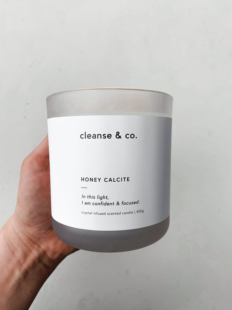 Candle - Honey Calcite | Confident & Focused