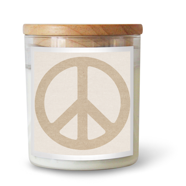 Peace Sign Oatmeal Candle