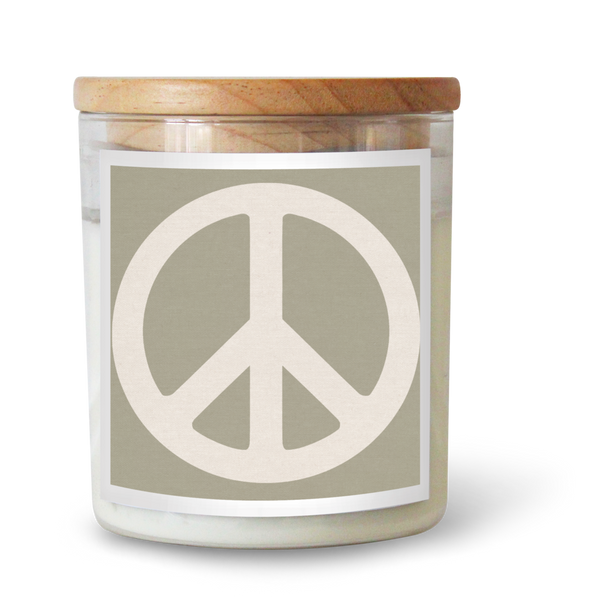 Peace Sign Sage Candle
