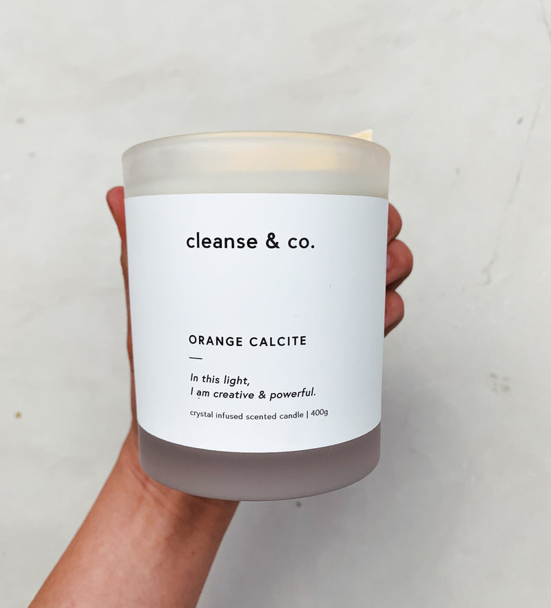 Candle Orange Calcite - Creative & Powerful