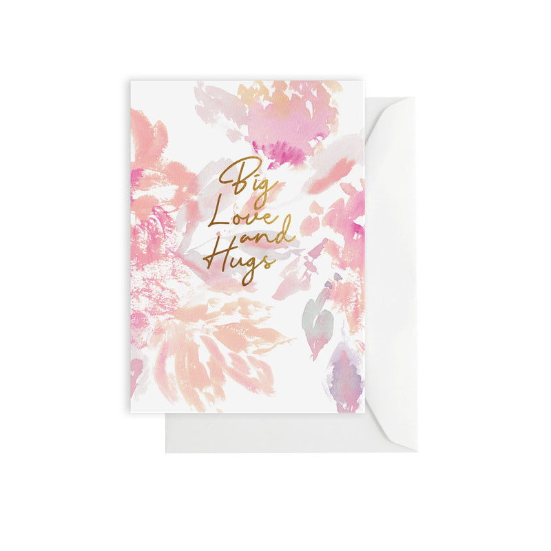 Big Love & Hugs Card