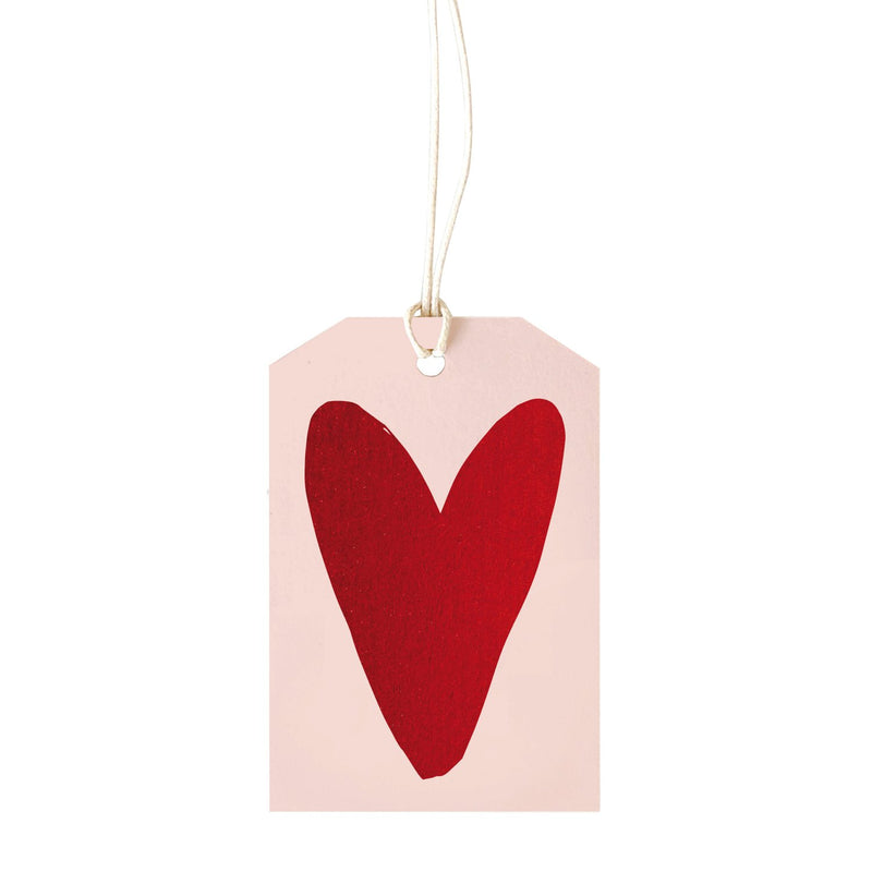 Red Foil Heart Gift Tag