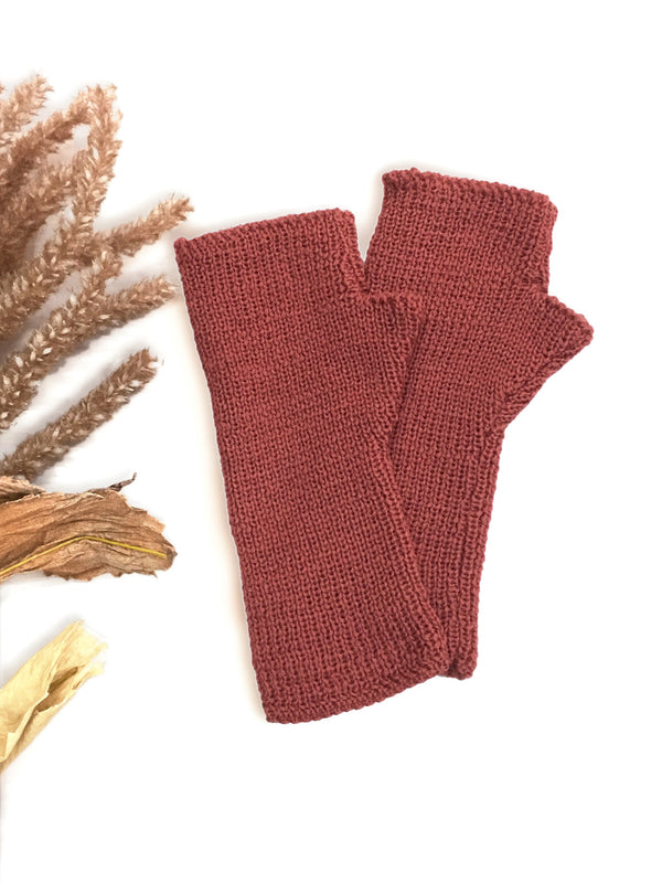 Classic Fingerless Gloves - Blush