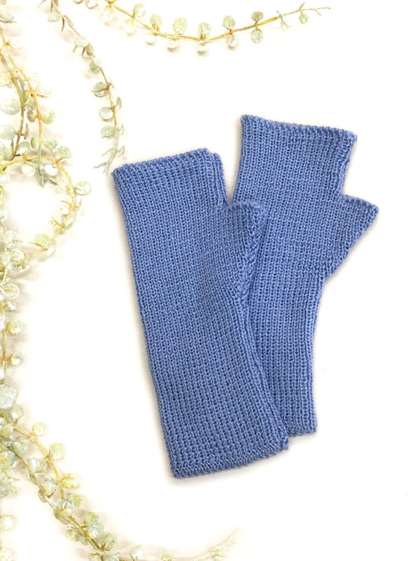 Classic Fingerless Gloves - Cornflower