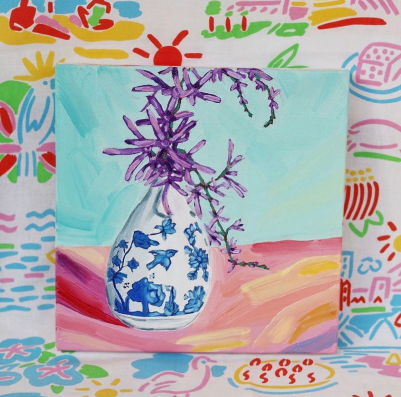'Petrea Flowers In Tiny Vase' by Kate Quinn