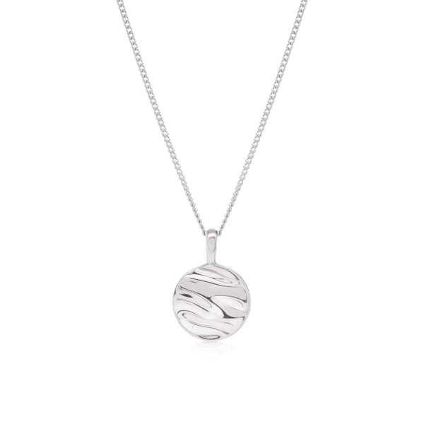 Isla Circle Necklace - Silver