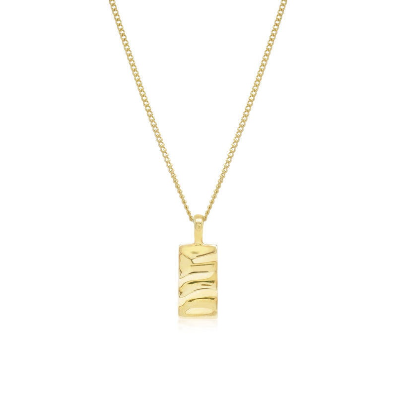 Isla Rectangle Necklace - Gold