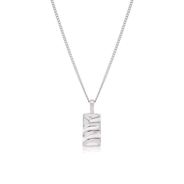 Isla Rectangle Necklace - Silver